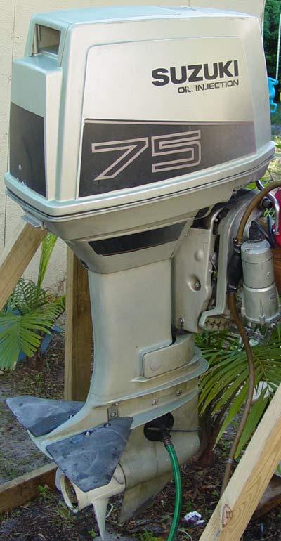 Suzuki 75 hp outboard boat motor for sale for Suzuki outboard motor repair shops
