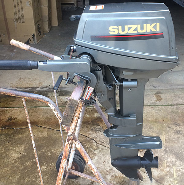 Used Small Boat Engines For Sale: Used 1996 Suzuki 8 Hp Outboard Motor For Sale Suzuki Boat