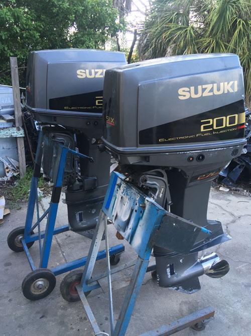Twin 200 Hp Suzuki Efi 2 Stroke Outboard Boat Motors For Sale