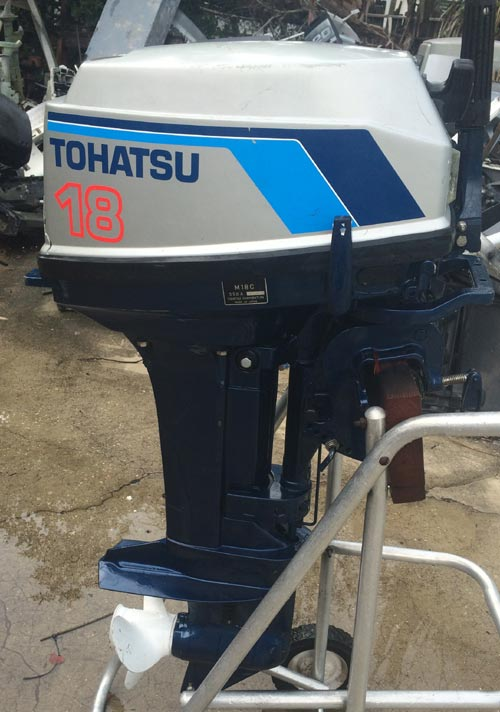 Used 18 Hp Tohatsu Outboard