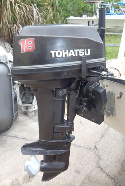 Used 18 Hp Tohatsu Outboard