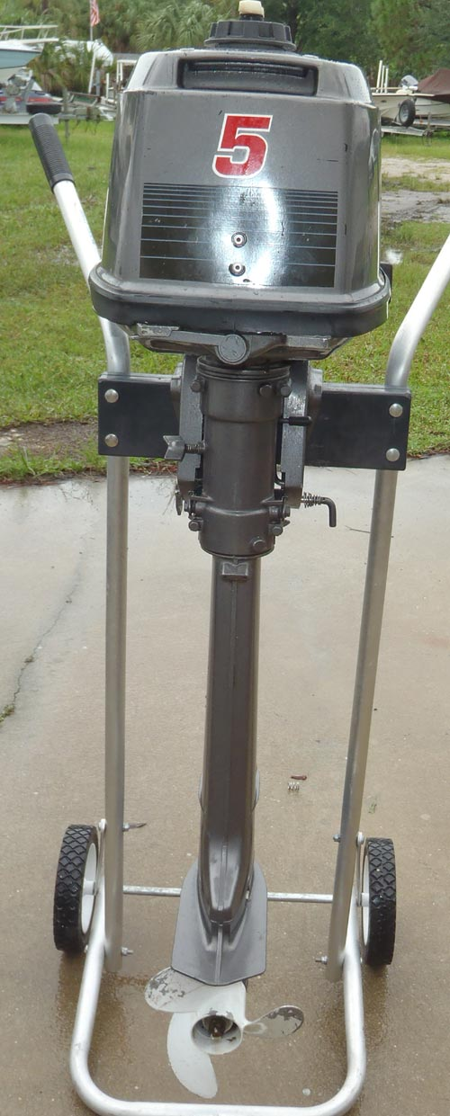 Nissan Tohatsu 5 Hp Outboard Boat Motor Long Shaft For Sale