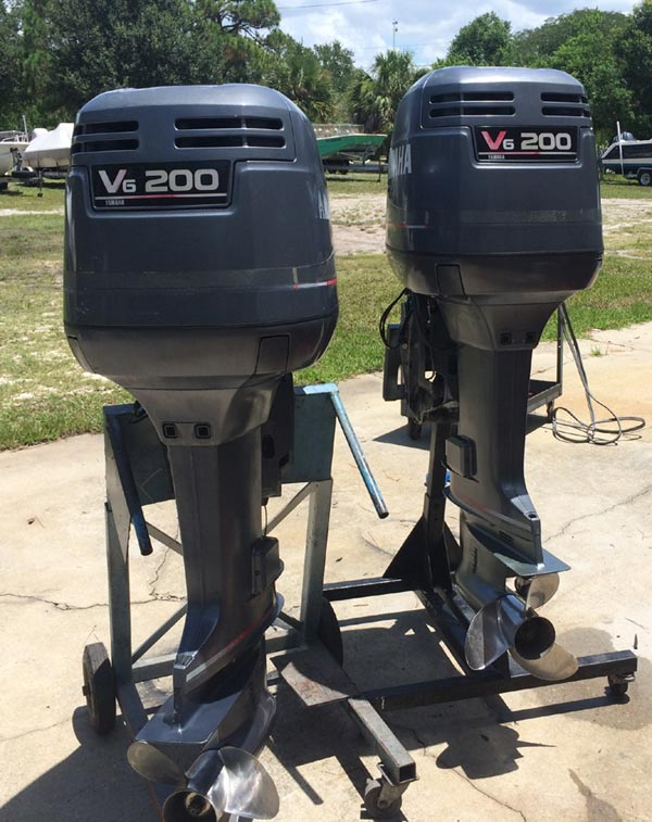 Twin 200 hp yamaha 2 stroke outboards for sale for Yamaha 2 hp outboard motor for sale