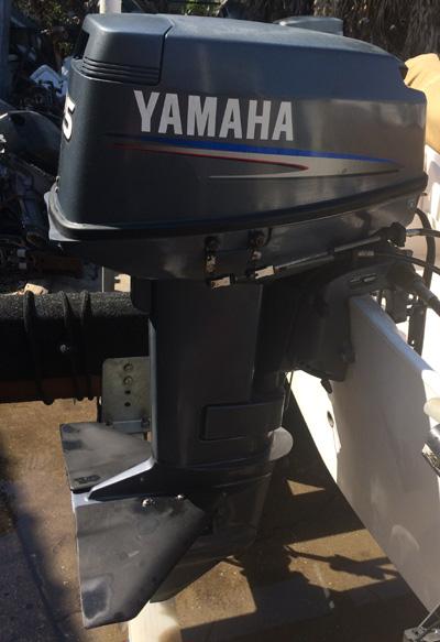 25 hp Yamaha Outboard For Sale Tiller