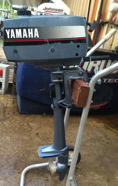 Water In Gas Tank >> 2 hp Yamaha Outboard Boat Motor For Sale