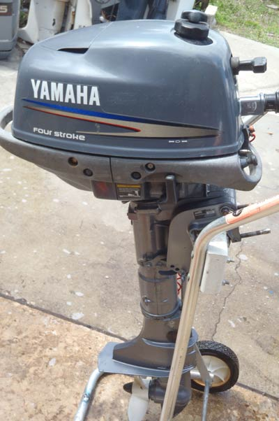 yamaha 4hp outboard. built lightweight and compact, this portable yamaha two stroke has been designed so you can take it absolutely anywhere. the convenience of a in fuel 4hp outboard y